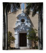 Entrance To Congregational Church Fleece Blanket