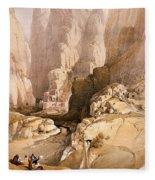 Entrance To Petra Fleece Blanket