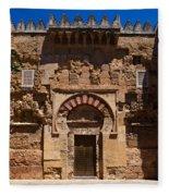 Entrance To The 10th Century Mezquita Fleece Blanket