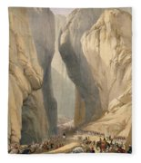 Entrance To The Bolan Pass From Dadur Fleece Blanket