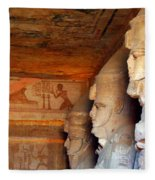 Entrance To The Great Temple Of Ramses II Fleece Blanket