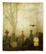 Enveloped By Fog Fleece Blanket