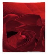 Enveloped In Red Fleece Blanket