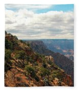 Environment Of The Canyon Fleece Blanket