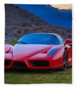 Enzo Ferrari Bold Fleece Blanket