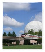 Epcot And The Monorail Ride Fleece Blanket