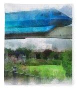Epcot Globe And Blue Monorail Walt Disney World Photo Art 01 Fleece Blanket