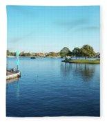 Epcot World Showcase Lagoon Panorama 05 Walt Disney World Fleece Blanket