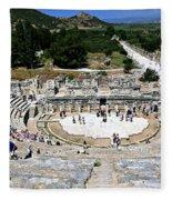 Theater Of Ephesus Fleece Blanket