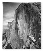 406716 Epic Bw Half Dome 1967 Fleece Blanket
