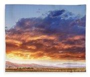 Epic Colorado Country Sunset Landscape Fleece Blanket