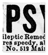 Epilepsy Treatment, 1878 Fleece Blanket