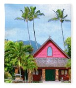 Episcopal Church In Kapaa Fleece Blanket