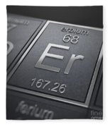 Erbium Chemical Element Fleece Blanket