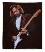 Eric Clapton Painting Fleece Blanket