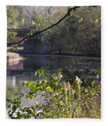 Erie Canal At Bushnell Basin Fleece Blanket