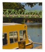 Erie Canal At Pittsford Ny Fleece Blanket