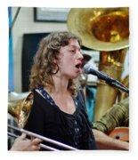 Erika Lewis With Tuba Skinny Fleece Blanket