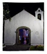 Ermita San Telmo. Puerto De La Cruz By Night Fleece Blanket