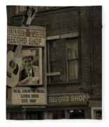 Ernest Tubb Record Shop Fleece Blanket