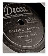 Ernest Tubb Vinyl Record Fleece Blanket