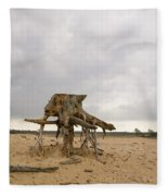 Eroded Tree Stumps Stand On Their Roots Fleece Blanket