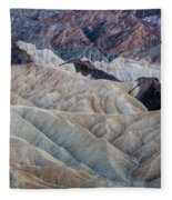 Erosional Landscape - Zabriskie Point Fleece Blanket