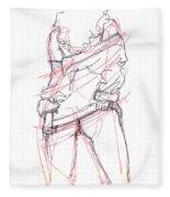 Erotic Art Drawings 6 Fleece Blanket