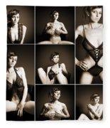 Erotic Beauty Collage 14 Fleece Blanket