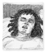 Erotic-drawings-24 Fleece Blanket