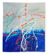 Erupting Blues Fleece Blanket