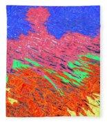 Erupting Lava Meets The Sea Fleece Blanket