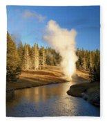 Eruption Along The Riverside Fleece Blanket