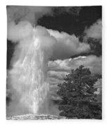 Eruptions By The Clock Fleece Blanket