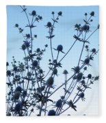 Eryngium Explosion Fleece Blanket