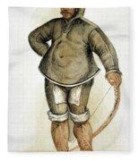 Eskimo Man Fleece Blanket