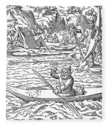 Eskimos Hunting, 1580 Fleece Blanket