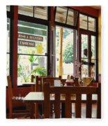 Espresso - Aloha Angel Cafe Fleece Blanket