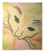 Essence Of Cat Fleece Blanket