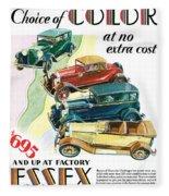 Essex Challenger Vintage Poster Fleece Blanket