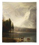 Estes Park Colorado Whytes Lake Fleece Blanket