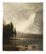 Estes Park Colorado Whytes Lake Fleece Blanket