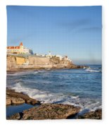 Estoril Coastline In Portugal Fleece Blanket