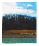 Estuary In Early Spring Fleece Blanket