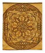 Eternity Mandala Leather Fleece Blanket