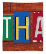 Ethan License Plate Name Sign Fun Kid Room Decor. Fleece Blanket