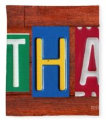 Ethan License Plate Name Sign Fun Kid Room Decor. Fleece Blanket