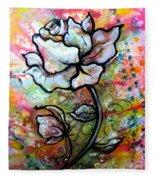 Ethereal Rose Fleece Blanket