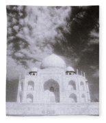 Ethereal Taj Mahal Fleece Blanket
