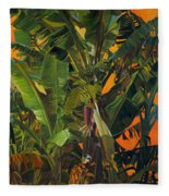 Eugene And Evans' Banana Tree Fleece Blanket